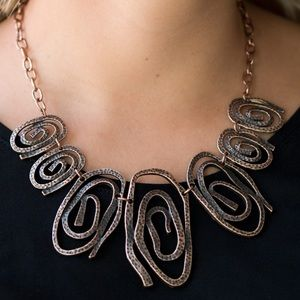 Copper Tribal Necklace Earring Set NWT